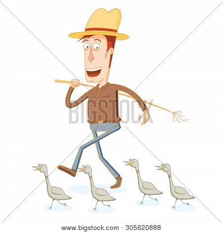 Farmer And His Band Of Duck Soldier