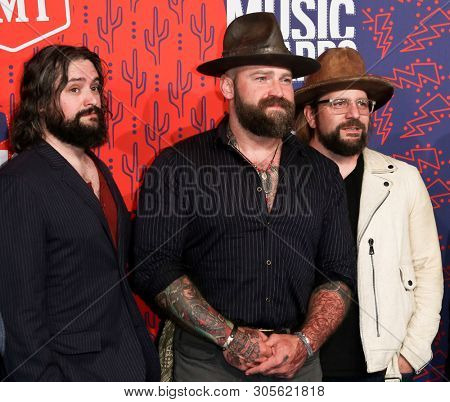 NASHVILLE - JUN 5: The Zac Brown Band attends the 2019 CMT Music Awards at the Bridgestone Arena on June 5, 2019 in Nashville, Tennessee.