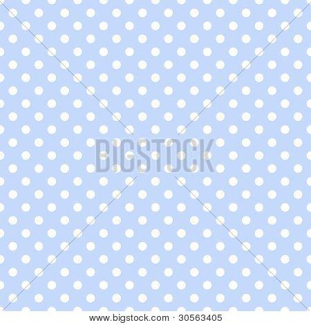 White Polka Dots on Pale Blue