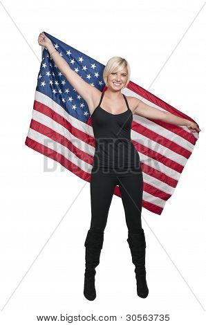 Woman With A Flag