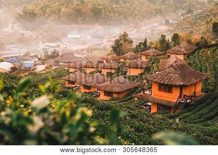 Sunrise At Lee Wine Rak Thai, Chinese Settlement, Mae Hong Son, Thailand