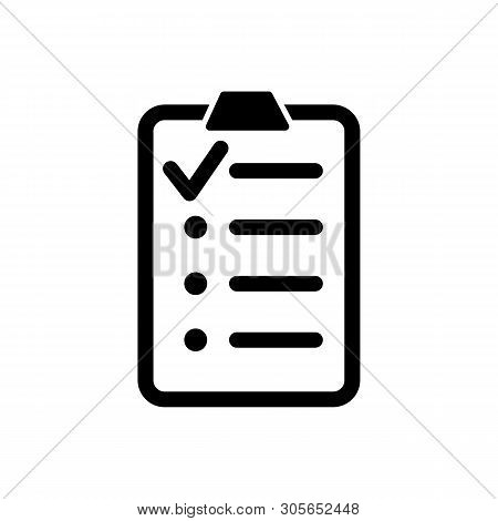 Clipboard With List Icon Isolated On White Background. Clipboard With List Icon In Trendy Design Sty