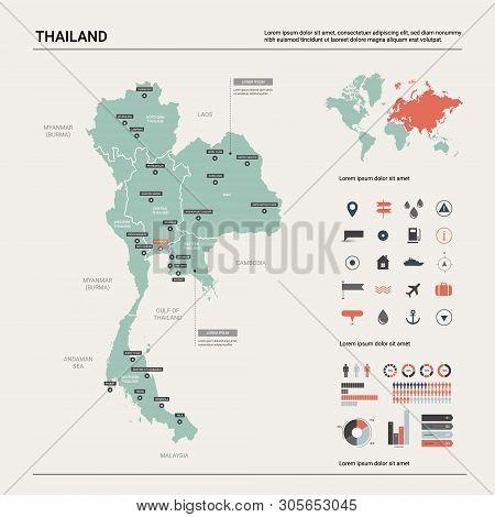 Vector Map Thailand. Vector & Photo (Free Trial) | Bigstock