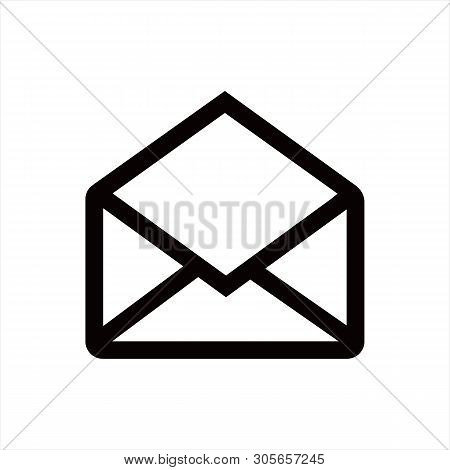 Open Mail Icon Isolated On White Background. Open Mail Icon In Trendy Design Style. Open Mail Vector