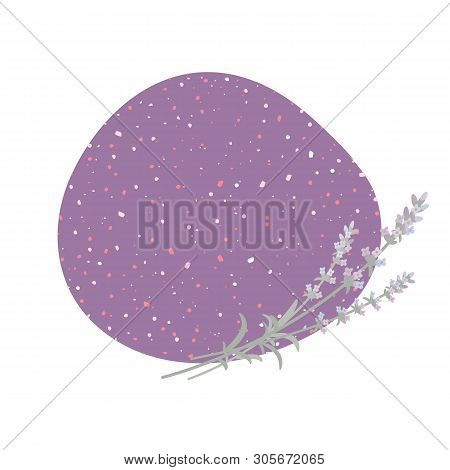 Vector Lilac Background With Sprigs Of Lavender. Eps 10