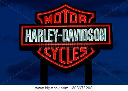 Las Vegas - Circa June 2019: Harley Davidson Logo And Signage. Harley Davidson Motorcycles Are Known