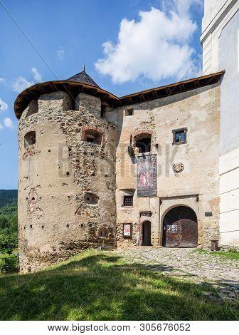 Banska Stiavnica, Slovakia - August 06, 2015: Main Building Of The Old Castle In Banska Stiavnica, S