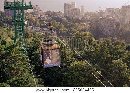 Sochi, Russia - 24 September 2018. Funicular In Sochi Arboretum