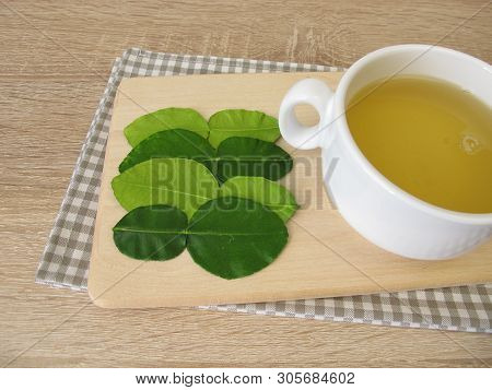 A Cup Of Tea With Kaffir Lime Leaves