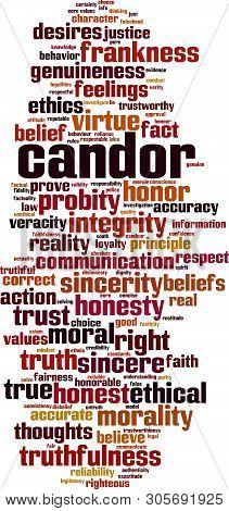 Candor, Sincerity, Word, Cloud, Tag, Word Cloud, Vector, Concept, Illustration, Virtue, Communicatio
