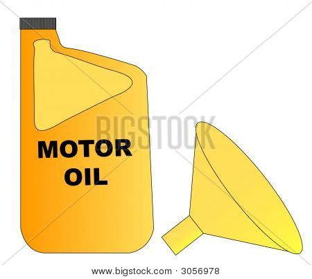 Motor Oil And Funnel