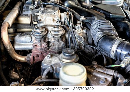 Car Engine Part.automobile Engine Part.old Style.powerful Engine Of Car