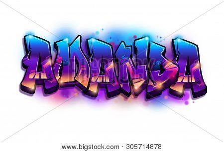 Amanda Name Text Graffiti Word Design Letters