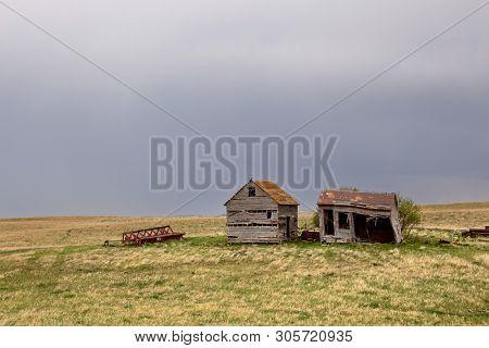 Prairie Storm Clouds In Saskatchewan Canada Rural