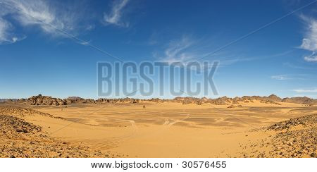 Vast Valley In The Akakus Mountains, Sahara, Libya