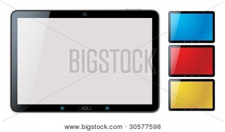 Horizontal Tablet Pc Set With Copyspace - Isolated Vector