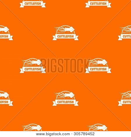Cuttlefish Shop Pattern Vector Orange For Any Web Design Best