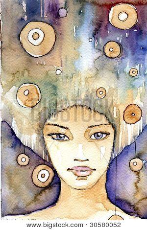 portrait in Indigo