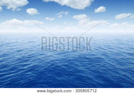 Sea water surface on sky