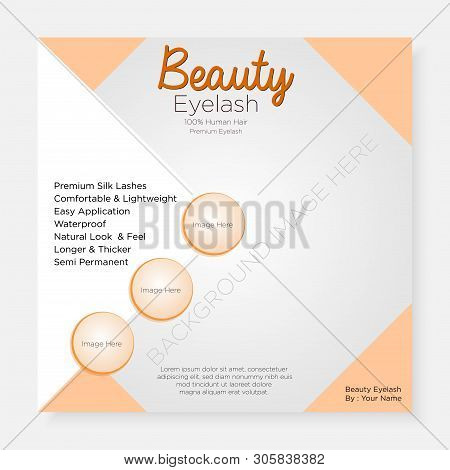 Eyelashes Template Social Media Banner Square-04 For Website Commercial Use And More
