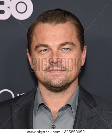LOS ANGELES - JUN 05:  Leonardo DiCaprio arrives for the HBO 'Ice On Fire' Premiere on June 05, 2019 in Hollywood, CA