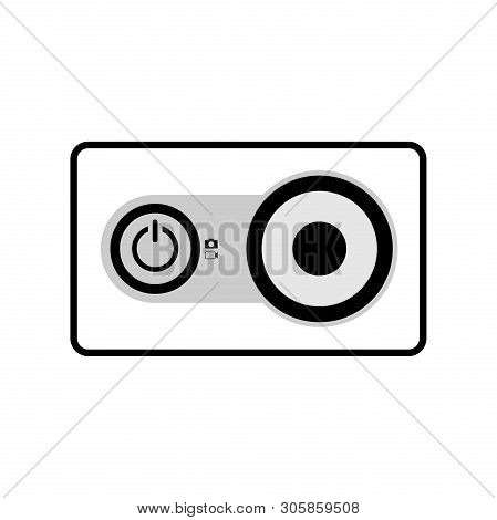 Action Camera Icon, Photo Action Camera Icon Eps10, Photo Camera Icon Vector, Photo Camera Icon Eps,