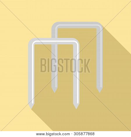 Croquet Wicket Icon. Flat Illustration Of Croquet Wicket Vector Icon For Web Design