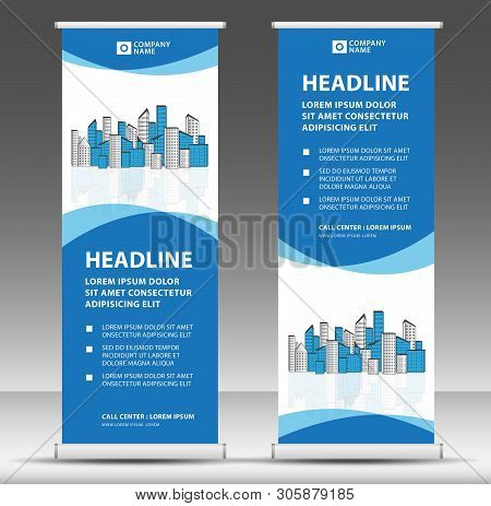 Roll Up Banner Template, Stand Design, Pull Up, Display, Advertisement, Business Flyer, Poster, Pres