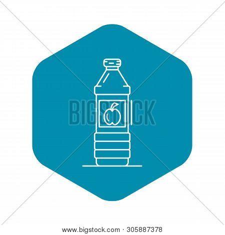 Apple Vinegar Bottle Icon. Outline Apple Vinegar Bottle Vector Icon For Web Design Isolated On White