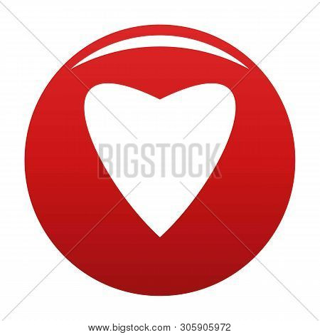 Proud Heart Icon. Simple Illustration Of Proud Heart Vector Icon For Any Design Red