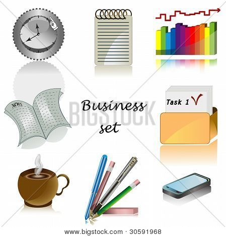 Business Icons For Office Vector Set