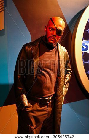 Las Vegas,nv/usa - Oct 09,2017 : Samuel L. Jackson As Nick Fury, Madame Tussauds Wax Museum In Las V