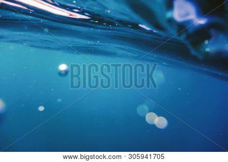 Underwater Air Bubbles Underwater Background Bubbles. Underwater Sunlight