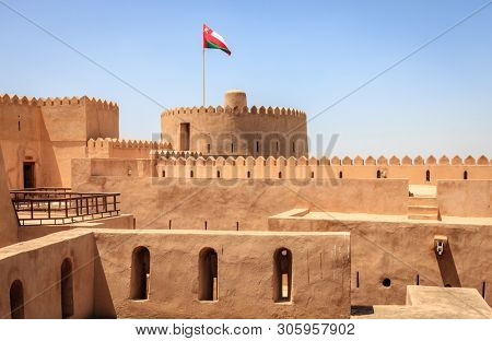 Historic Rustaq Fort in the city of Rustaq, Oman
