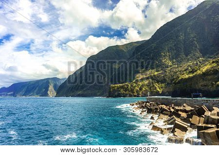 Landscape Of Bay At Seixal, Madeira Island, Portugal
