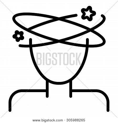 Dizzy Icon. Outline Dizzy Vector Icon For Web Design Isolated On White Background
