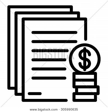 Mortgage Down Payment Icon. Outline Mortgage Down Payment Vector Icon For Web Design Isolated On Whi