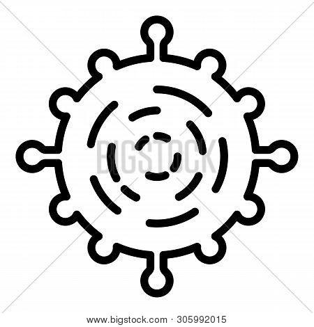 Adenovirus Icon. Outline Adenovirus Vector Icon For Web Design Isolated On White Background