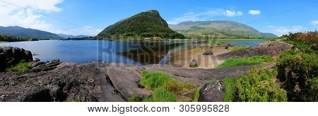 Panoramic View Of Upper Lake And Peaks In Killarney National Park, Ring Of Kerry, Ireland