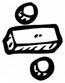 division symbol cartoon poster