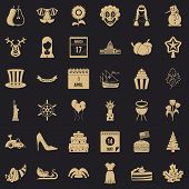 Folklore icons set. Simple set of 36 folklore vector icons for web for any design poster