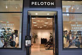 Houston, Tx - Apr 22: Peloton Store At The Galleria Mall In Houston, Texas, As Seen On Apr 22, 2019.