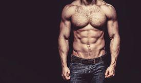 Beautiful Male Torso. Sexy Man, Naked Body, Nude Male. Sexy Body, Nude Man, Naked Male, Muscled. Str