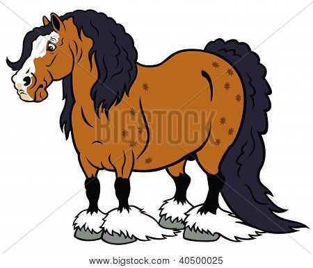 cartoon heavy horse
