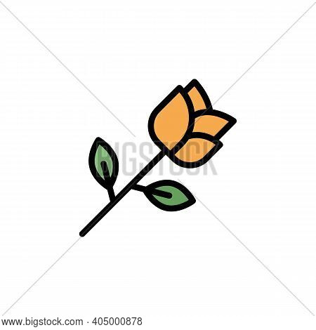 Mothers Day Rose Outline Icon. Element Of Mothers Day Illustration Icon. Signs And Symbols Can Be Us