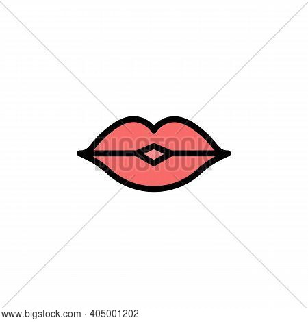 Mothers Day Kiss Outline Icon. Element Of Mothers Day Illustration Icon. Signs And Symbols Can Be Us