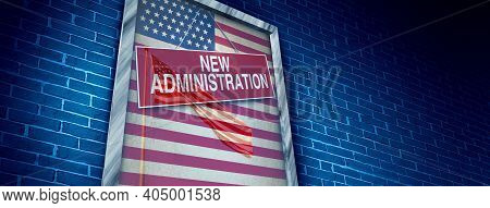 New Us Administration And Inauguration Of An American President Or Government After A Winning Presid