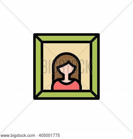 Mothers Day Portrait Outline Icon. Element Of Mothers Day Illustration Icon. Signs And Symbols Can B