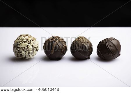 Variety Of Handmade Gourmet Chocolate Truffle Candy