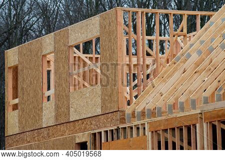 Rafters And Plywood Frame Are New At Home Wooden